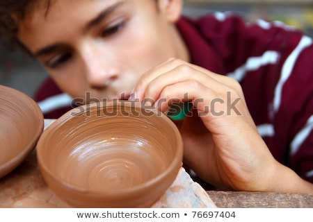 мальчика банка Керамика семинар портрет Сток-фото © wavebreak_media