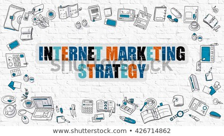 internet marketing in multicolor doodle design stock photo © tashatuvango