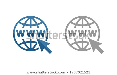 Silhouet internet www communicatie verkoop vorm Stockfoto © Olena