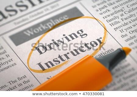 Stock photo: Driving Instructor Job Vacancy. 3D.