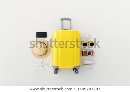 Seyahat tatil bagaj beyaz kadın plaj Stok fotoğraf © Elnur