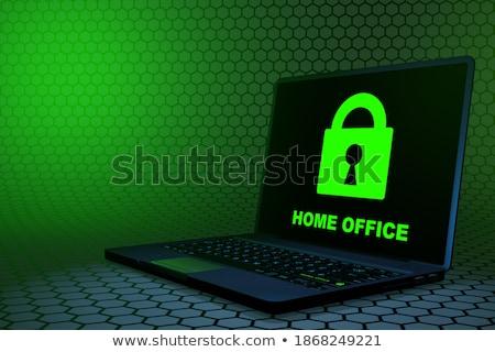 clave · ordenador · botón · verde · seguridad - foto stock © tashatuvango