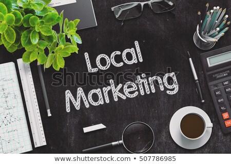 Black Chalkboard with Local Marketing Concept. 3D Rendering. Stock photo © tashatuvango