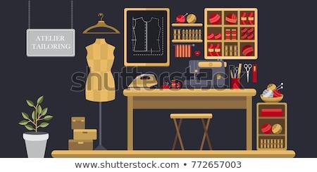 Naaien communie plank illustratie materieel weefsel Stockfoto © lenm