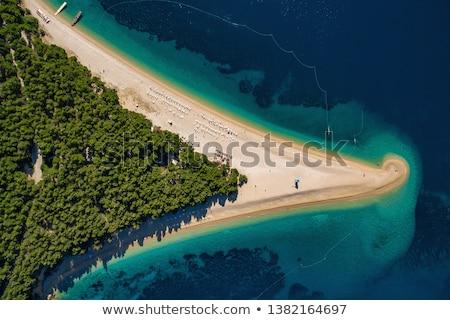 Zlatni rat beach aerial view Stock photo © xbrchx