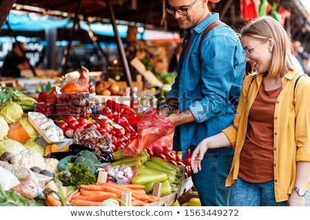 Couple at outdoor market Stock photo © IS2