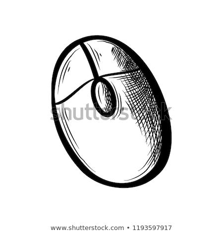 Bilgisayar monitörü fare kroki ikon vektör yalıtılmış Stok fotoğraf © RAStudio