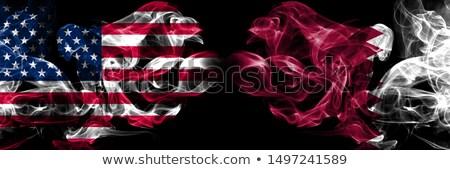 Futbol Alevler bayrak Katar siyah 3d illustration Stok fotoğraf © MikhailMishchenko