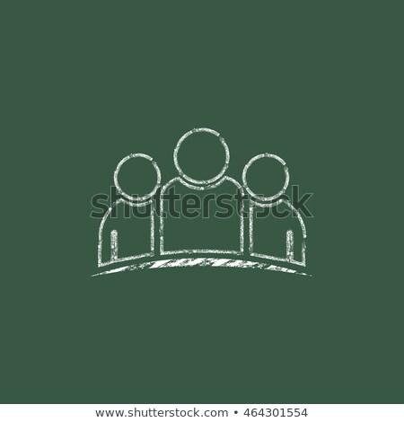 Consulta verde quadro-negro rabisco ícones Foto stock © tashatuvango