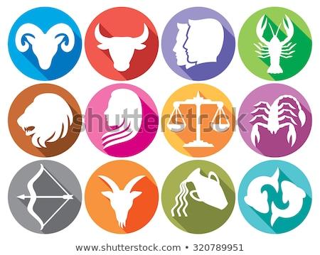 Balança horóscopo zodíaco assinar astrologia ícone Foto stock © Krisdog