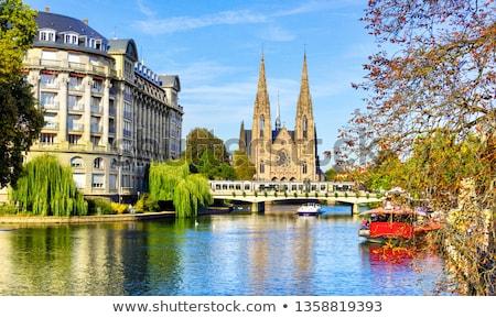 Церкви Восход Франция воды солнце природы Сток-фото © Givaga