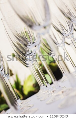 empty champagne glasses on black background stock photo © denismart