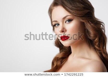 seksi · esmer · güzellik · poz · kadın - stok fotoğraf © arturkurjan