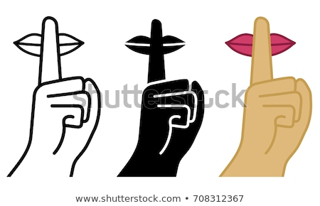 Finger at mouth. silence is with. Hush vector illustration Stock photo © MaryValery
