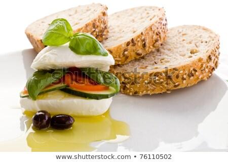 ripieno · mozzarella · sandwich · foto · olio - foto d'archivio © Francesco83