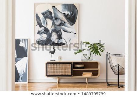 Branco preto moderno design de interiores cena limpar Foto stock © arquiplay77