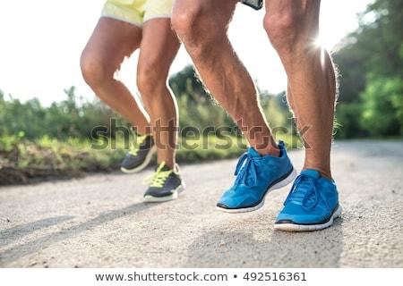 Paren loopschoenen vrouw man fitness Stockfoto © IS2