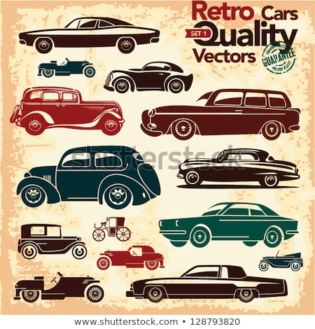 Retro cabriolet car, vintage collection Stock photo © sidmay
