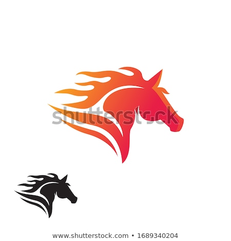 fire horse head - vector logo stock photo © djdarkflower