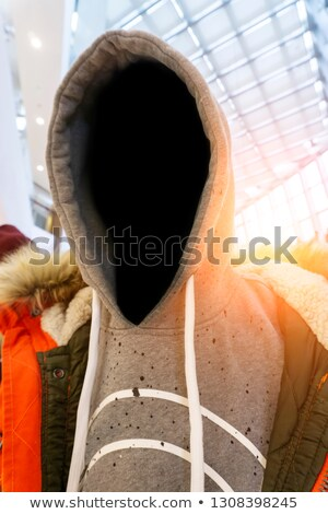 Hooligan with hoodie in urban surrounding Stock photo © stevanovicigor
