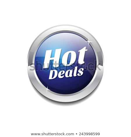 Hot Deals Round Vector Web Element Circular Button Icon Design Stock photo © rizwanali3d