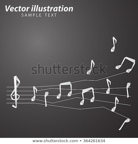 origami paper music notes Stock photo © romvo