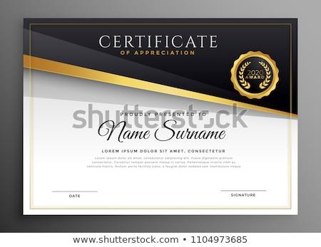 Negro oro prima certificado resumen fondo Foto stock © SArts