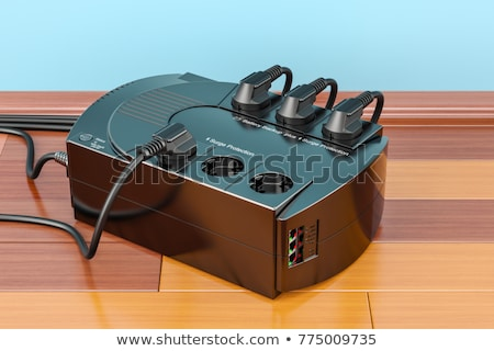 fonte · de · alimentação · unidade · fora · branco · caixa · azul - foto stock © kup1984