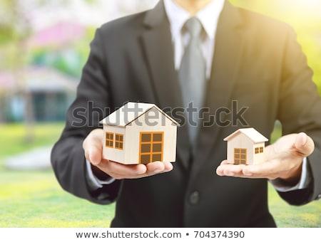 imprenditore · casa · modello · primo · piano · legno - foto d'archivio © monkey_business