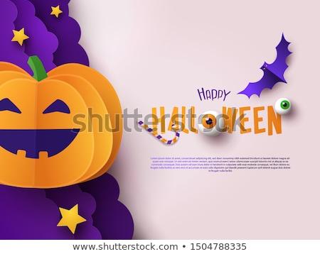 Сток-фото: Cute · вектора · счастливым · Хэллоуин · Flyer
