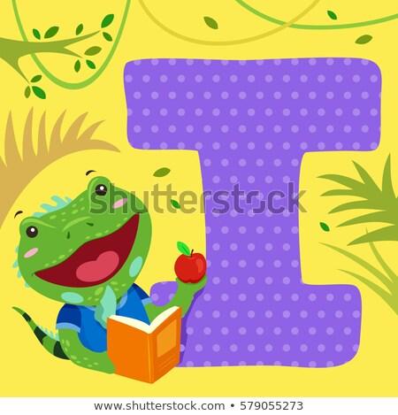 アルファベット タイル イグアナ を読む 実例 ストックフォト © lenm