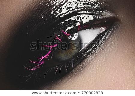 Creativa fantasía maquillaje de ojos macro tiro hermosa Foto stock © artfotodima
