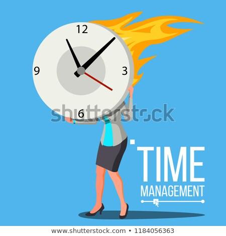 időbeosztás · férfi · vektor · hatalmas · óra · óra - stock fotó © pikepicture
