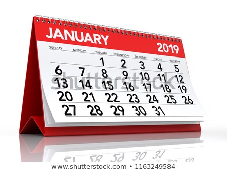 2019 year calendar for january isolated 3d illustration stock photo © iserg
