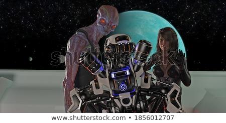 Feio alienígena falante desenho animado ilustração gráfico Foto stock © cthoman