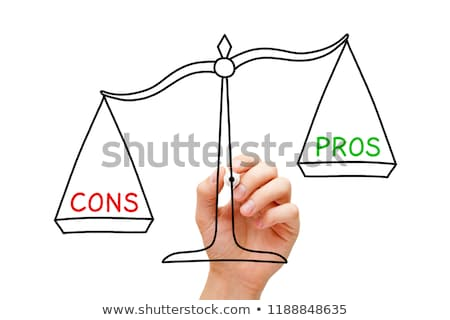 More Cons Than Pros Scale Concept Stock photo © ivelin