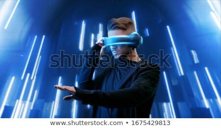 Zdjęcia stock: Rzeczywistość · neon · strony · Internetu · projektu · technologii