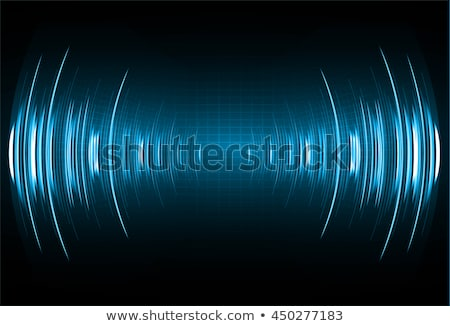 sound waves oscillating glow light digital wave abstract technology background   vector stock photo © olehsvetiukha