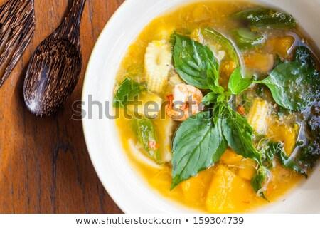 Stock fotó: Leves · friss · gombák · tál · friss · zöldség · étterem