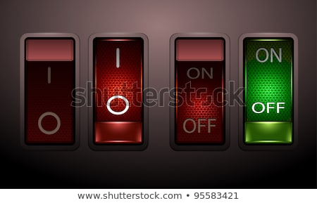 Set of realistic toggle switches in on and off positions, vector illustration. Stock photo © kup1984
