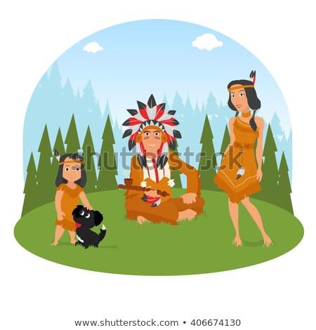 Kız yerli anne çocuk örnek Stok fotoğraf © lenm