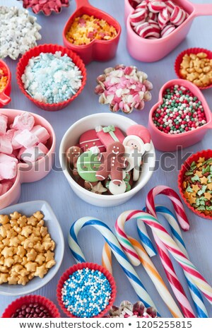 variety of christmas sprinkles and decorations stock photo © barbaraneveu