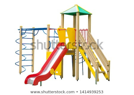 площадка слайдов белый иллюстрация искусства зеленый Сток-фото © bluering
