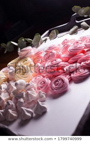 Scatola regalo alimentare dolci marshmallow panna montata Foto d'archivio © dolgachov