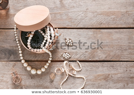 Necklace Pearl Elegant Earrings Golden Accessories Stock photo © robuart