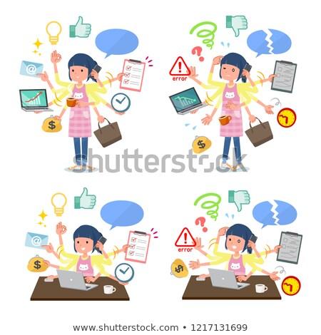 Childminder women_desk work Stock photo © toyotoyo
