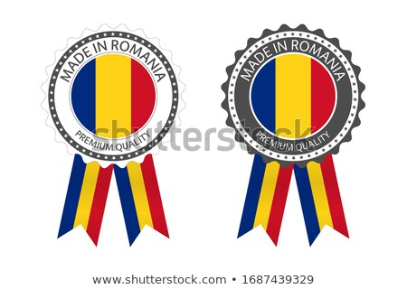 Photo stock: Modern Vector Made In Romania Label Isolated On White Background Simple Sticker With Romanian Color