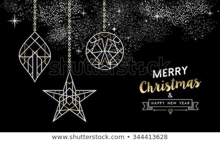 neşeli · Noel · happy · new · year · önemsiz · şey · art · deco - stok fotoğraf © cienpies