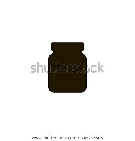 Conservado comida vidro conjunto vetor ícones Foto stock © robuart
