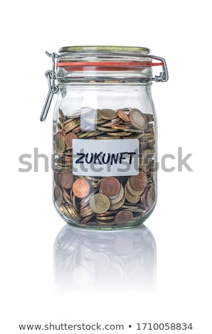 Izolált bögre érmék jövő üzlet üveg Stock fotó © Zerbor